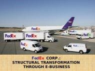 STRUCTURAL TRANSFORMATION THROUGH E-BUSINESS
