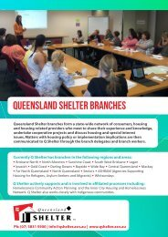 Queensland Shelter Branches