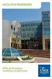 QX Brochure Ingenierie:Layout 1 - Université Saint-Esprit De Kaslik