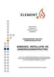 Gebruiksaanwijzing Element4 gashaarden gesloten ... - UwKachel