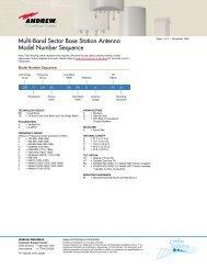 Andrew Base Station Antenna Model Number Guide - AVW