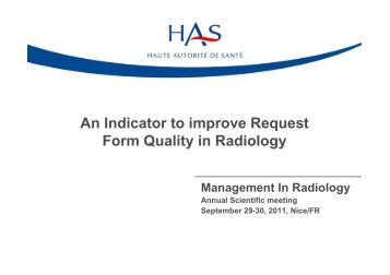 An indicator to improve imaging requisitions quality - MIR-Online