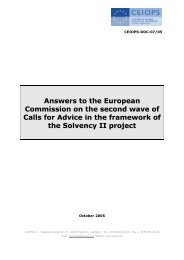Answers to the European Commission on the ... - Eiopa - Europa