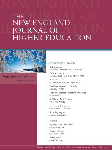 NEJHE's - New England Board of Higher Education