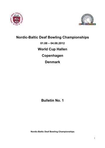 Nordic-Baltic Deaf Bowling Championships 2012 - Deafbowling.dk