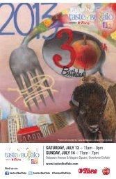 SaTurday, July 13 − 11am - 9pm Sunday, July 14 ... - Taste of Buffalo