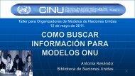 Como buscar información para Modelos ONU - CINU