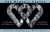2009 Annual Report - The Women's Center of Tarrant County