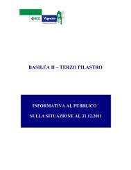 Informativa relativa al Terzo pilastro di Basilea 2 al ... - BCC Vignole