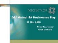 Old Mutual SA Businesses Day - Nedbank Group Limited