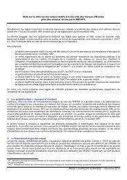 Note sur la réforme des textes relatifs à la sécurité des travaux ...