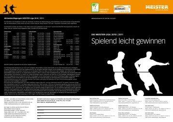 die meister-liga 2010 - Thalhofer