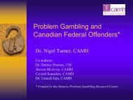 The prevalence of problem gambling amongst Canadian federal ...