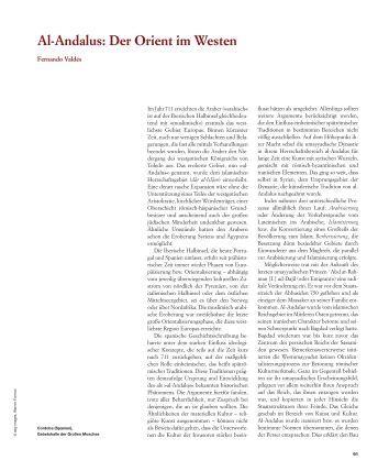 Al-Andalus: Der Orient im Westen