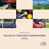 Primer on Volatile Organic Compounds - Pollution Probe
