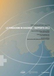 LE FONDAZIONI IN SVIZZERA – RAPPORTO 2011 - Tafter