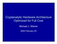 Cryptanalytic Hardware Architecture Optimized for ... - Hyperelliptic org