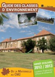 Le guide des classes d'environnement 2012/2013 - Istres