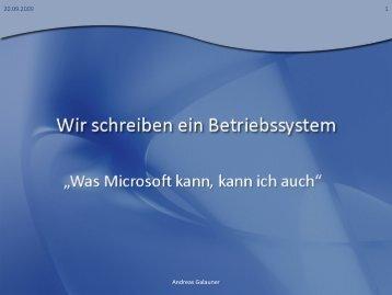 Wir schreiben ein Betriebssystem