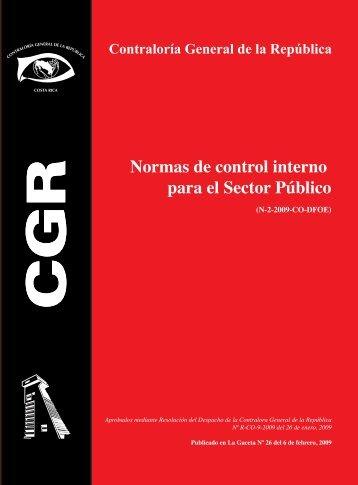 Normas de control interno para el Sector Público - Contraloría ...