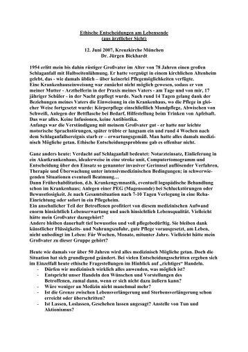 Ethische Entscheidungen am Lebensende - Evangelische Stiftung ...