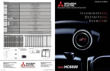 HC6500 - LCD Projector - Mitsubishi Electric Sales Canada Inc.