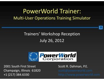 PowerWorld Trainer: