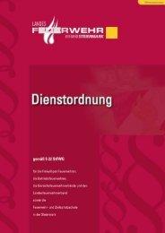 Dienstordnung gemäß § 22 StFWG - Gemeinde Rohrmoos-Untertal