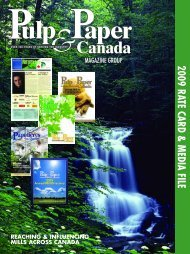 2009 RATE CARD & M EDIA FILE - Pulp and Paper Canada