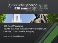 B2B Email Messaging: How to maximize the quality of ... - meclabs