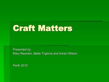Craft Matters