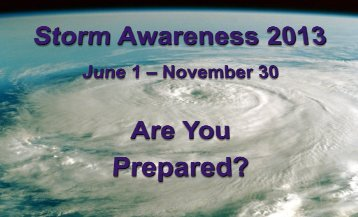 Presentation: Storm Awareness - Are You Prepared? - Louisiana ...