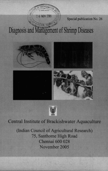 , Diagnosis an-&& of Shrimp Diseases - Central Institute of ...