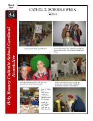 March 2010 School Newsletter - Holy Rosary