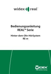 Bedienungsanleitung REAL™ Serie - Widex