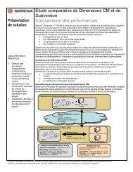 Étude comparative de Dimensions CM et de ... - Serena Software