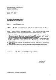 Poročilo Odbora za gospodarstvo - Mestna občina Novo mesto