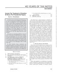 Income Tax Treatment of Donation of Nixon Pre-Presidential Papers