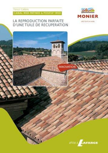 LA REPRODUCTION PARFAITE D'UNE TUILE DE RECUPERATION