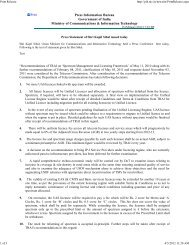 Press statement of MOC &IT issued on 15 th February 2012 - Auspi.in