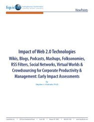 Impact of Web 2.0 Technologies Wikis, Blogs, Podcasts ... - LiquidHub