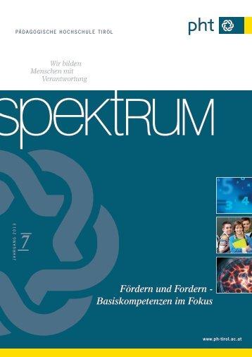 Online-Version Spektrum 7 - Pädagogische Hochschule Tirol