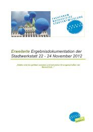 Erweiterte Ergebnisdokumentation der Stadtwerkstatt 22 - 24 ...