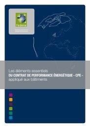 Guide du contrat de performance énergétique appliqué au bâtiment.