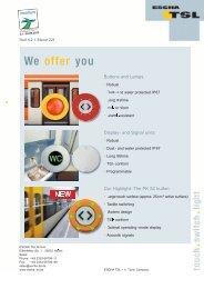 We offer you - Logo ESCHA TSL GmbH