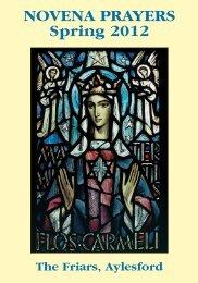accompanying novena prayer leaflet