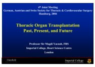 Thoracic Organ Transplantation Past, Present, and Future