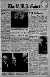 The Cadet. VMI Newspaper. April 27, 1962 - New Page 1 [www2.vmi ...