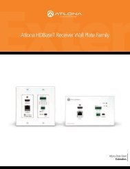 Atlona HDBaseT Receiver Wall Plate Family