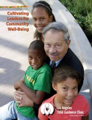 2009 Annual Report - Los Angeles Child Guidance Clinic
